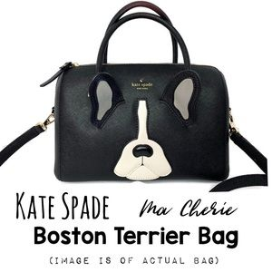 Kate Spade ♠️ Antoine Boston Terrier Ma Cherie Bag